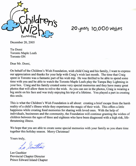 Charity Letter For Foundation